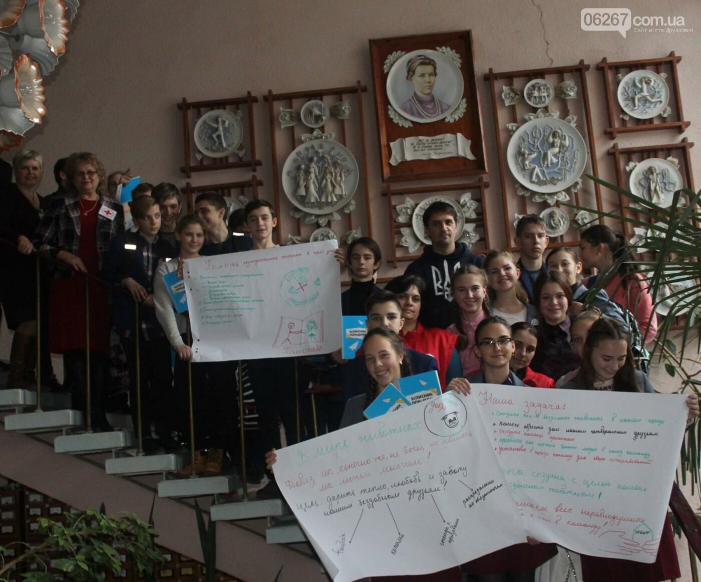 Учащиеся дружковской школы приобщались к волонтерскому движению, фото-2