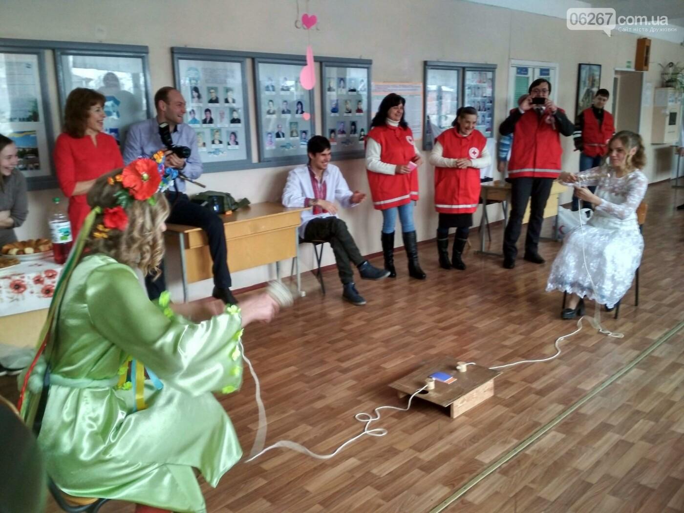 Студенты-строители в Дружковке отпраздновали Масленицу вместе с представителями Общества Красного Креста , фото-1