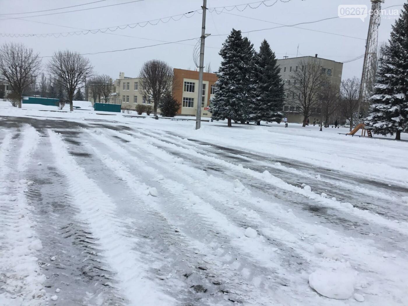 И о погоде: Сегодня в Дружковке в снежные капканы попали трамваи и бульдозеры (ФОТО, ВИДЕО), фото-3