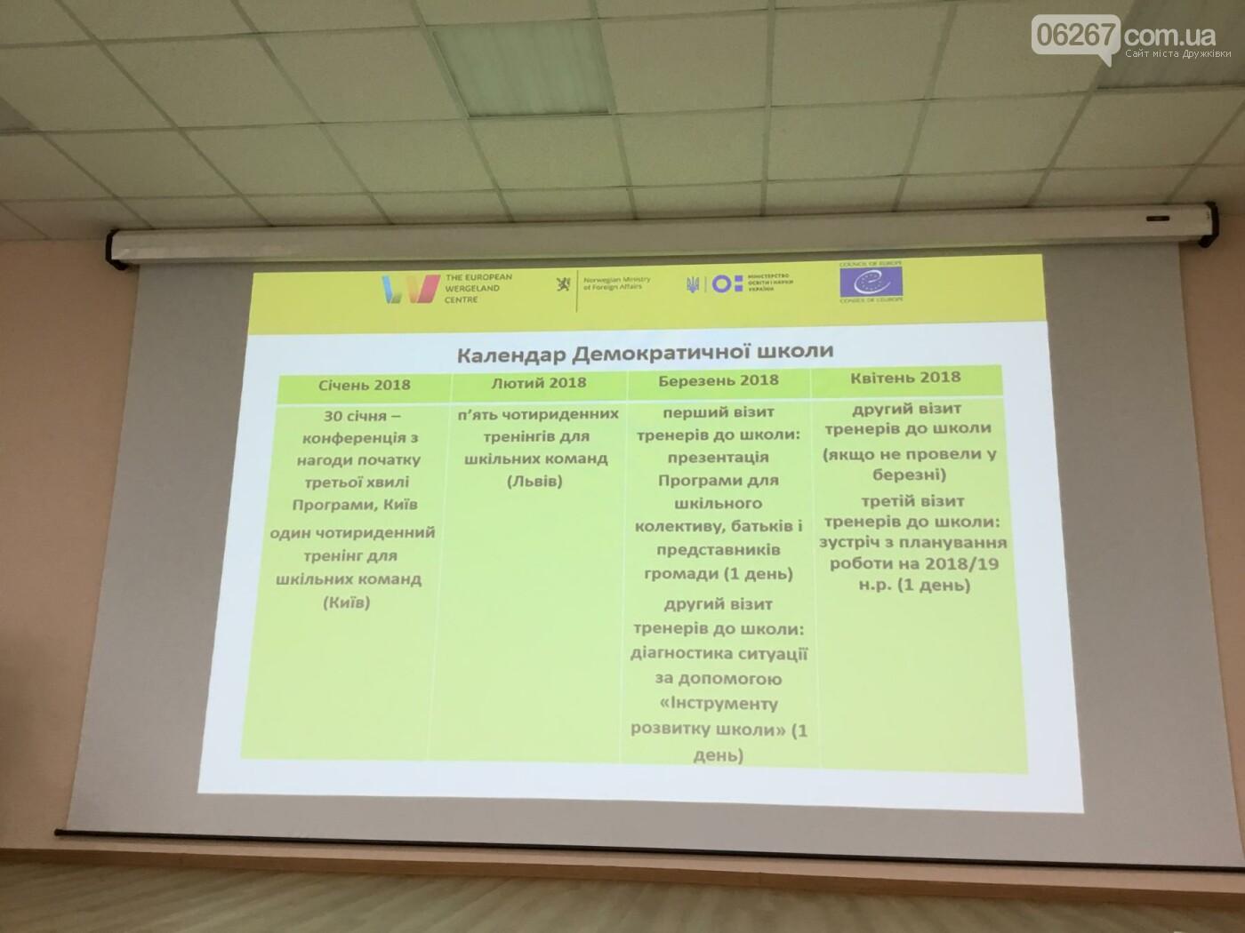 В Дружковке прошла вторая встреча-тренинг в рамках проекта «Демократическая школа», фото-1