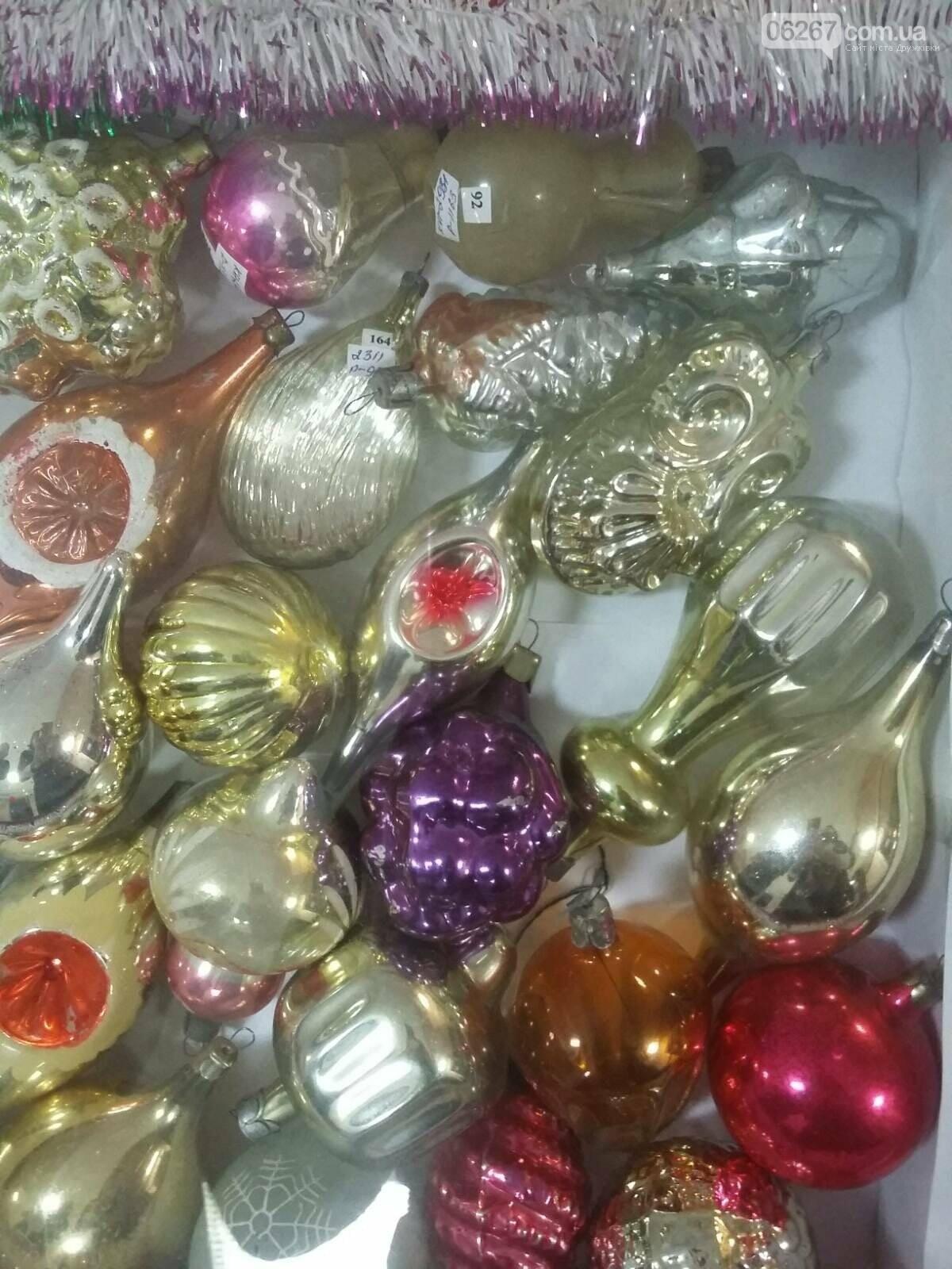В Дружковском музее открылась выставка новогодних елочных украшений (ФОТО), фото-6