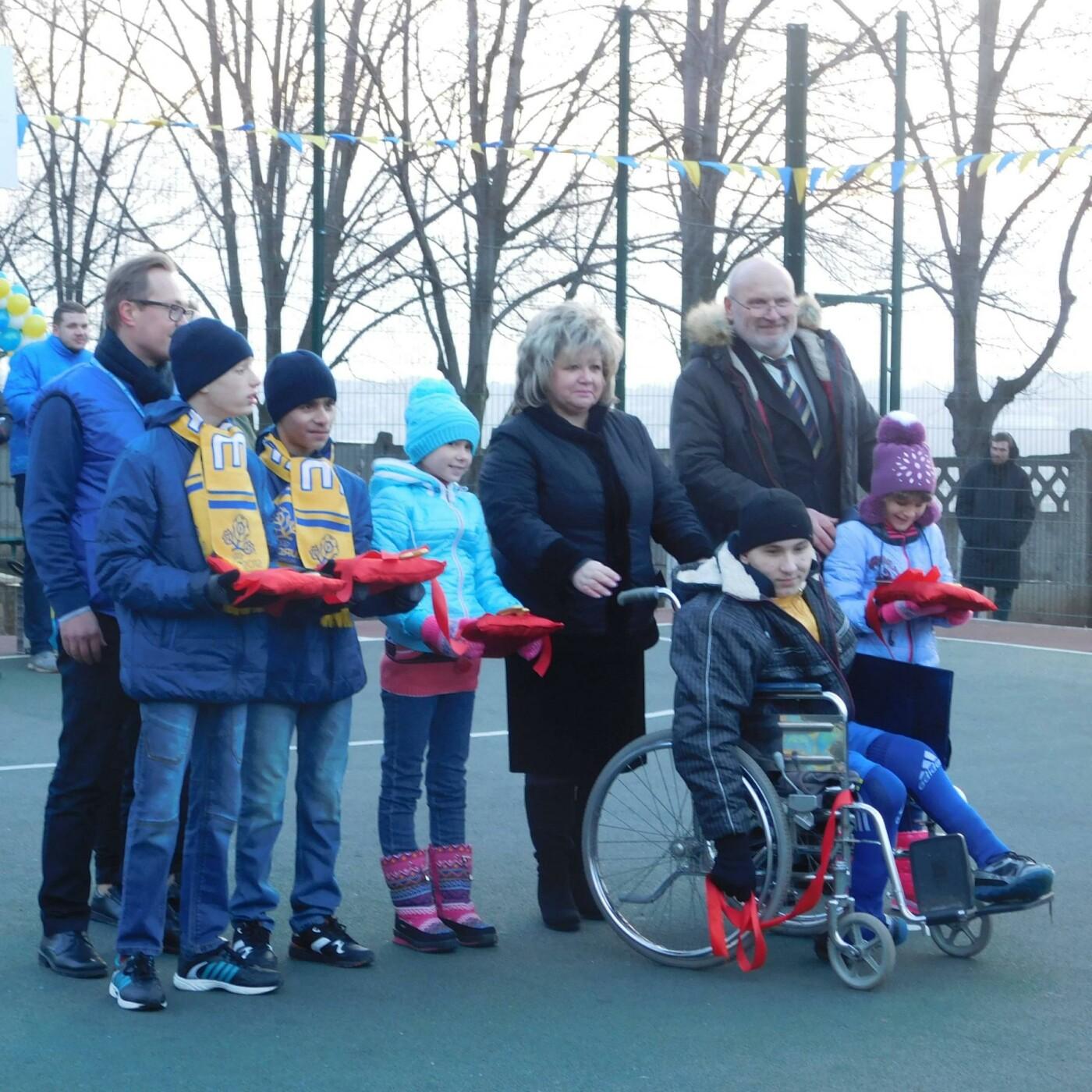 В Дружковском детском доме-интернате открыли спортплощадку с искусственным покрытием (ФОТО), фото-1