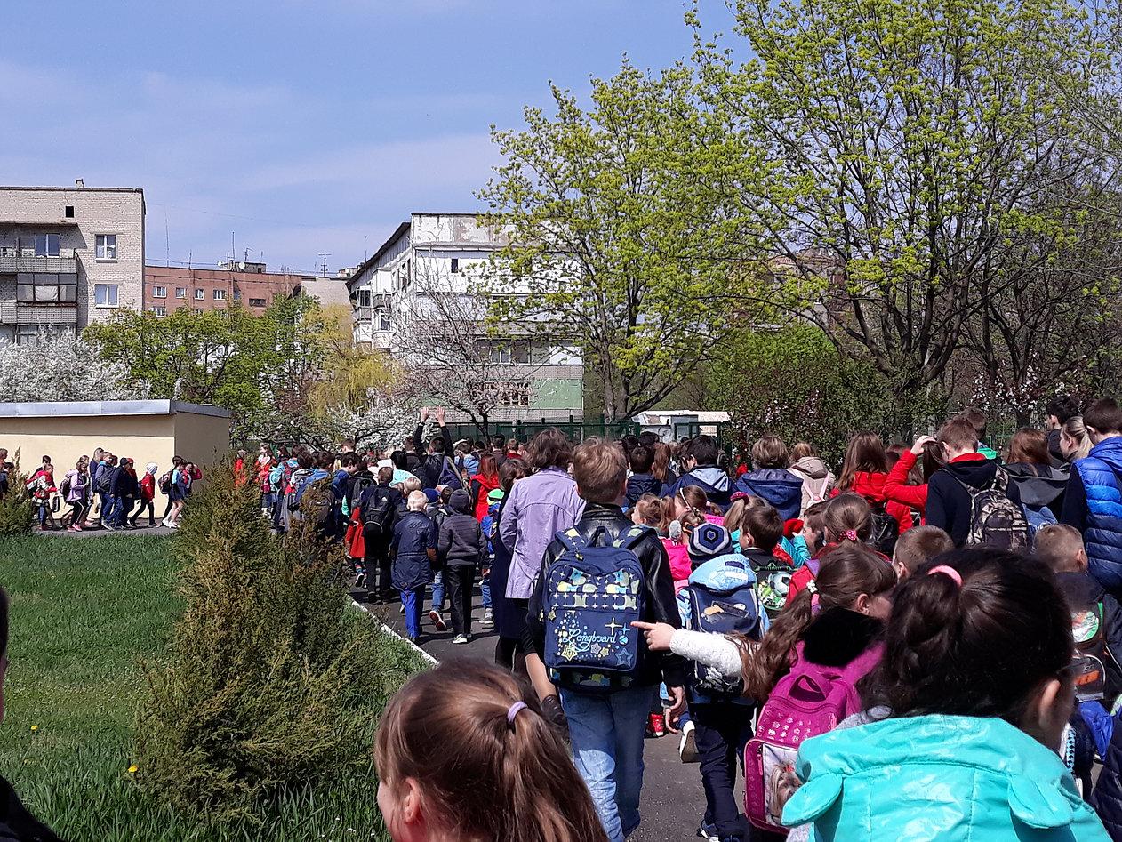 Проверка готовности: В Дружковке учащиеся школы №17 учились действовать собранно и решительно (ФОТО) , фото-3