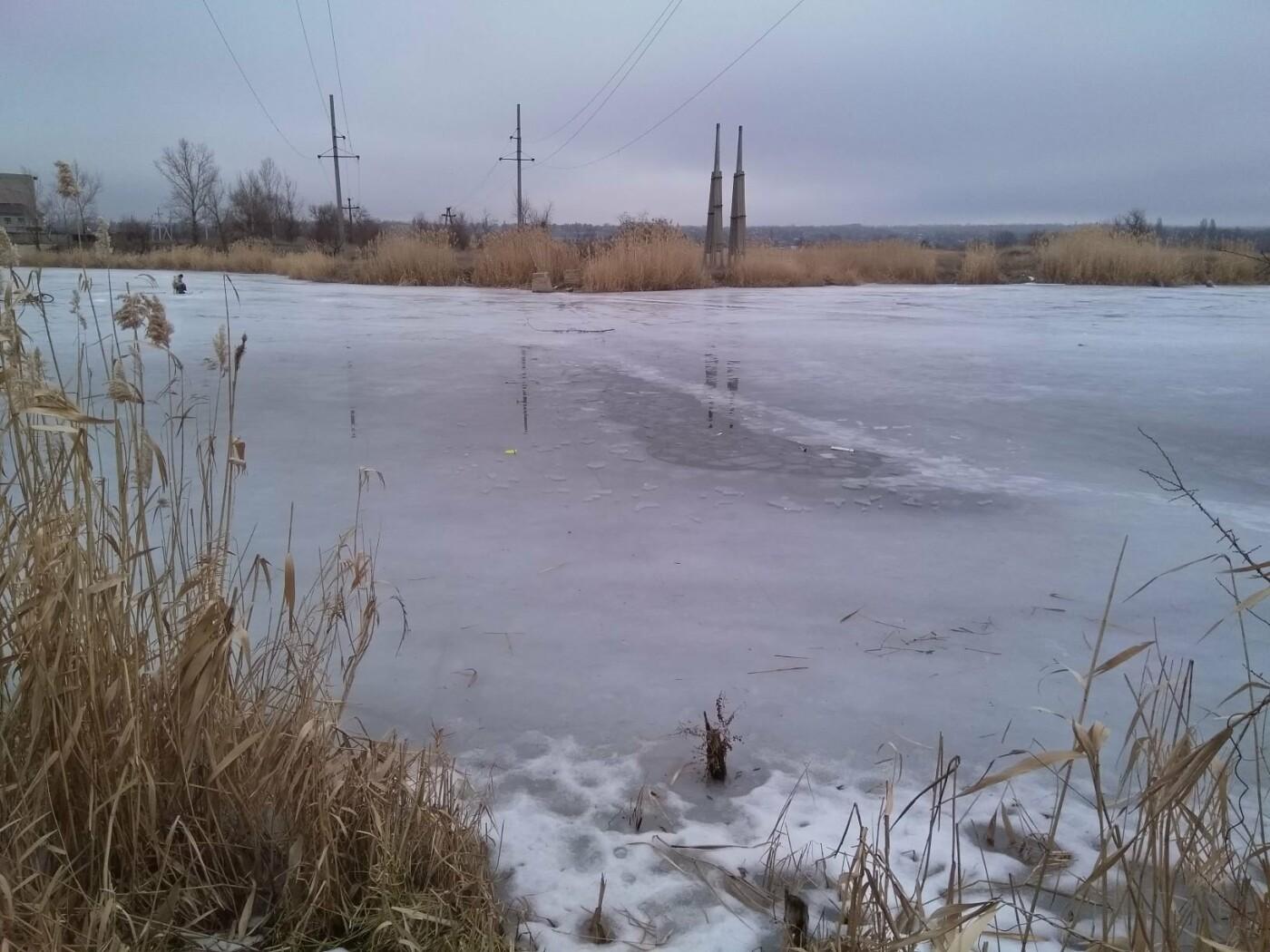 Дружковка: На реке Кривой Торец под лед провалился и тонул рыбак, фото-1