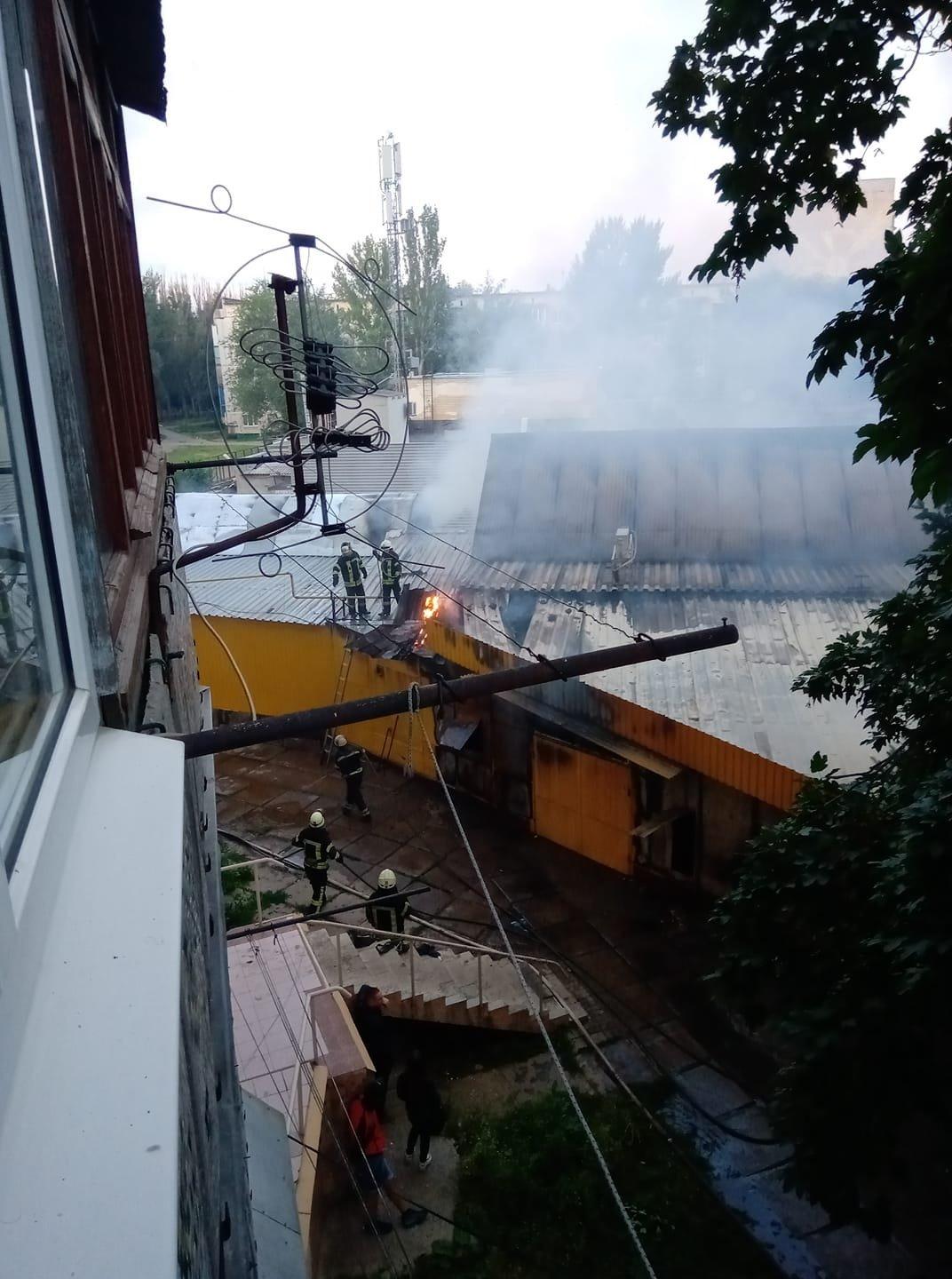 В Дружковке сгорел рынок «Магнат» (ФОТО), фото-7