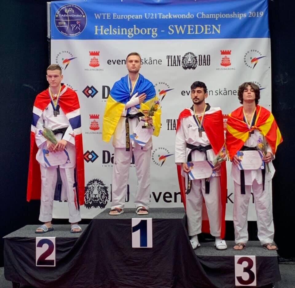 Дружковчанин Андрей Гарбар сегодня завоевал золото чемпионата Европы по тхэквондо в Швеции, фото-1