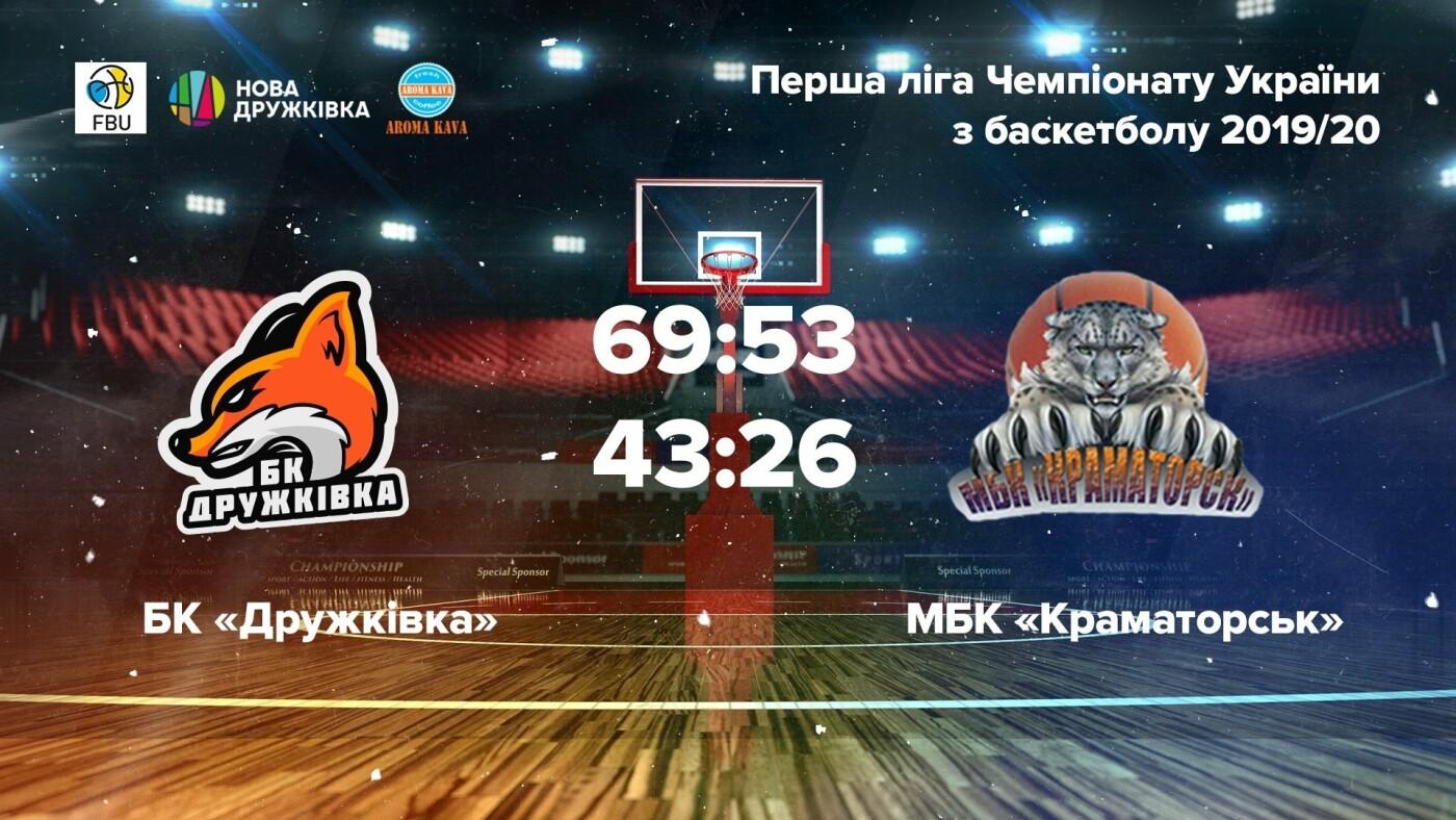 Баскетбольный клуб «Дружковка» одержал две победы в домашних матчах Чемпионата Украины, фото-1