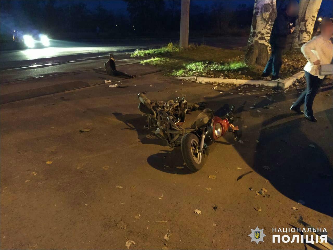 Дружковка: Вчера вечером женщина на скутере пострадала от столкновения с легковушкой (ФОТО), фото-2