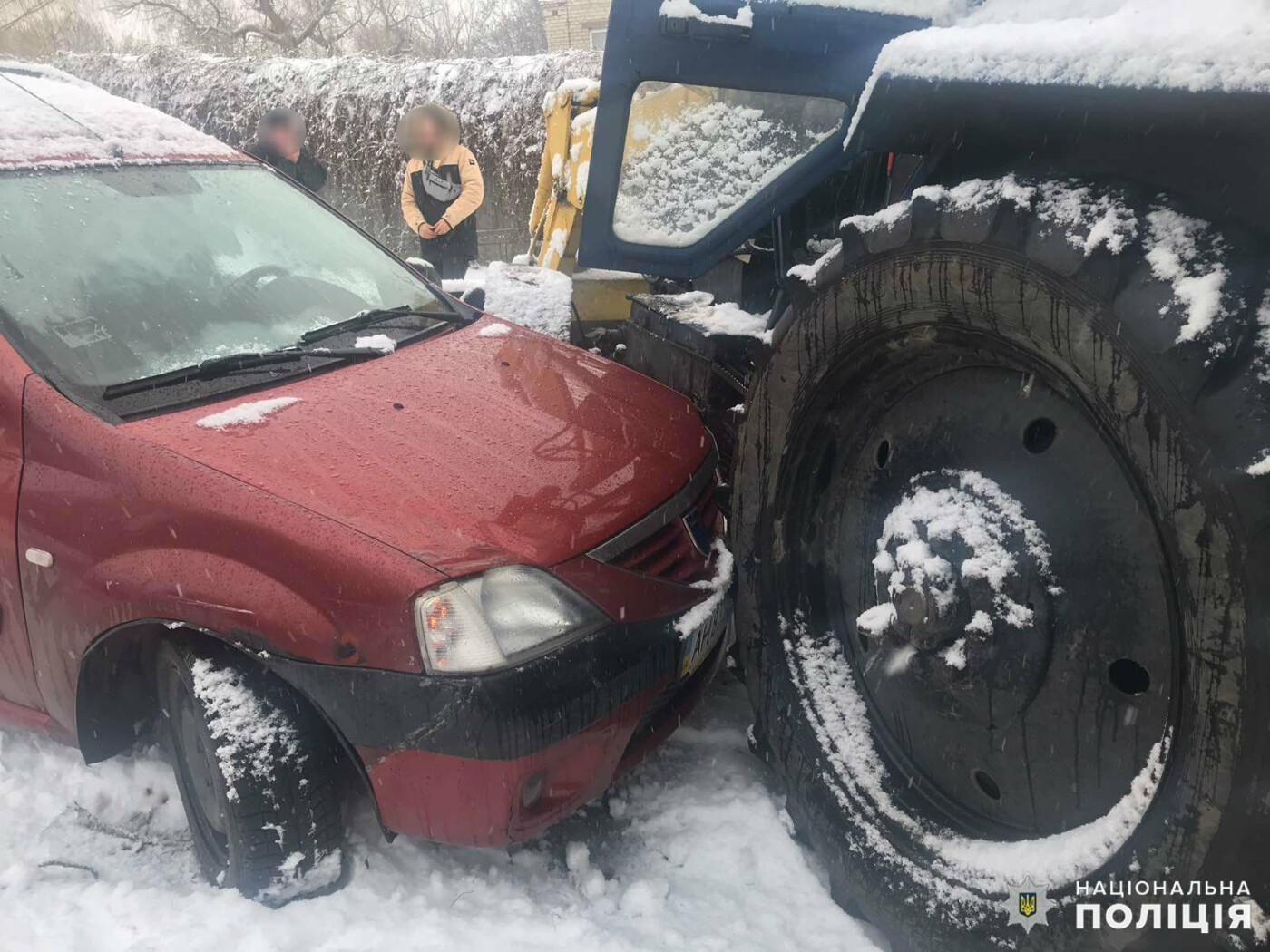 Итог первого снежного дня в Дружковке - три ДТП, фото-5