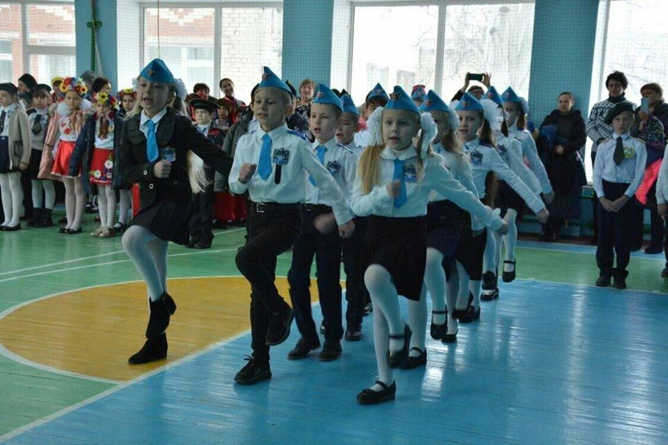 Дружківка: У школі №12 визначилися призери конкурсу строю та пісні (ФОТО), фото-1