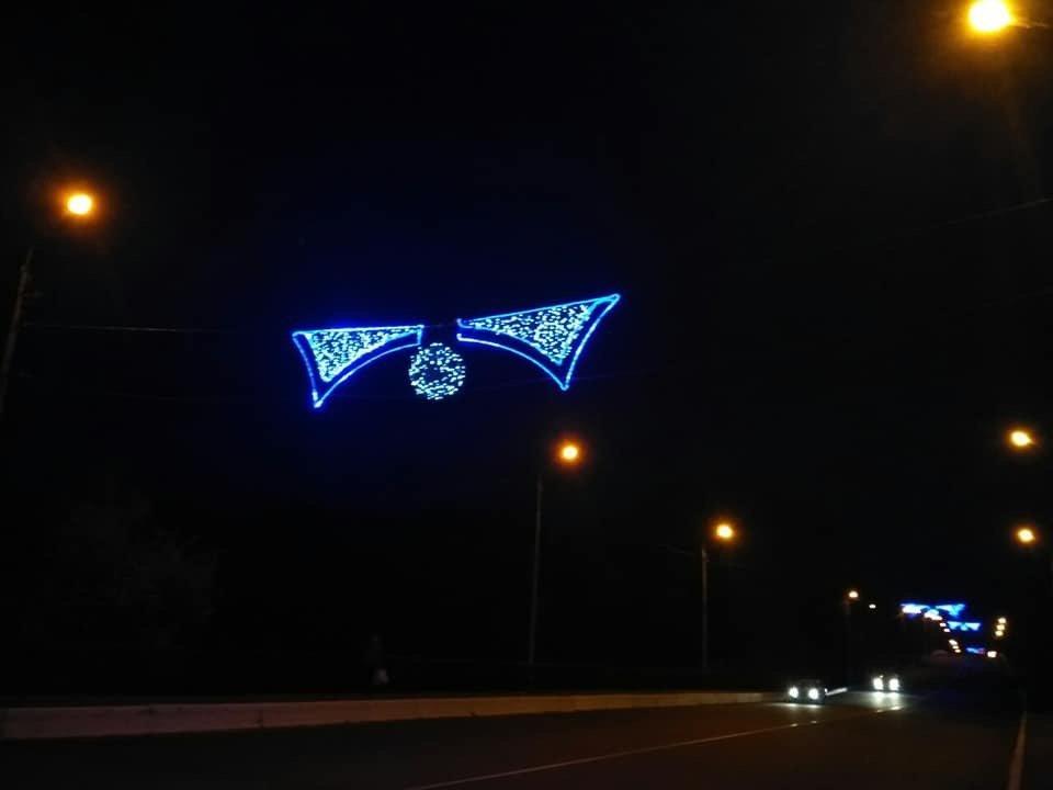 Цвет настроения - синий: В Дружковке уже почти все готово к встрече Нового года (ФОТО), фото-7