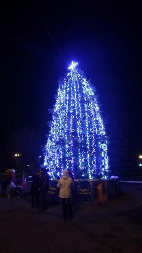 Цвет настроения - синий: В Дружковке уже почти все готово к встрече Нового года (ФОТО), фото-6