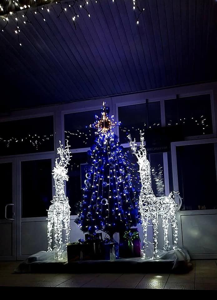 Цвет настроения - синий: В Дружковке уже почти все готово к встрече Нового года (ФОТО), фото-4