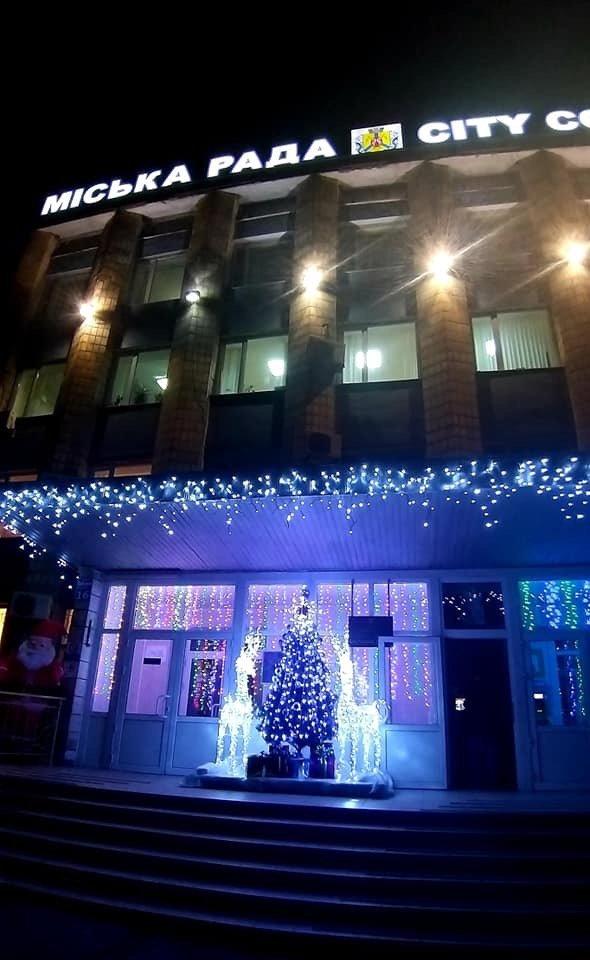 Цвет настроения - синий: В Дружковке уже почти все готово к встрече Нового года (ФОТО), фото-3