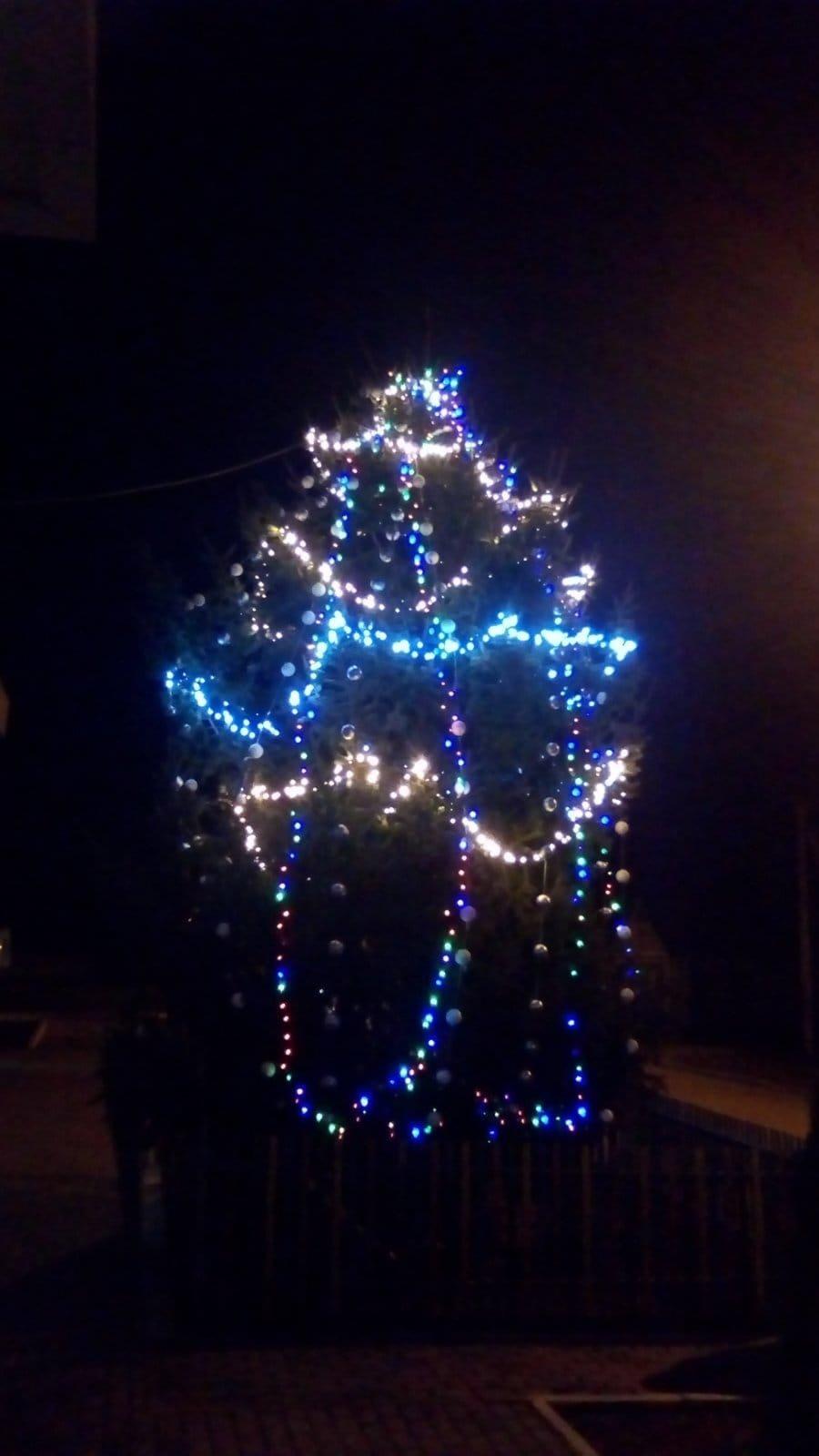Дружковка: Возле «Альтаира» засияла праздничными огнями еще одна новогодняя елка (ФОТО), фото-1