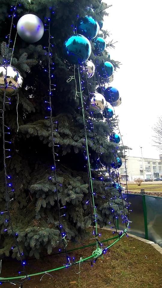 С главной елки Дружковки сегодня ночью украли шары на сумму более 7 тысяч гривен , фото-1