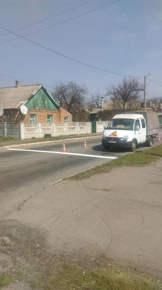 Дружківка: На центральних вулицях міста почали наносити дорожню розмітку (ФОТО), фото-2