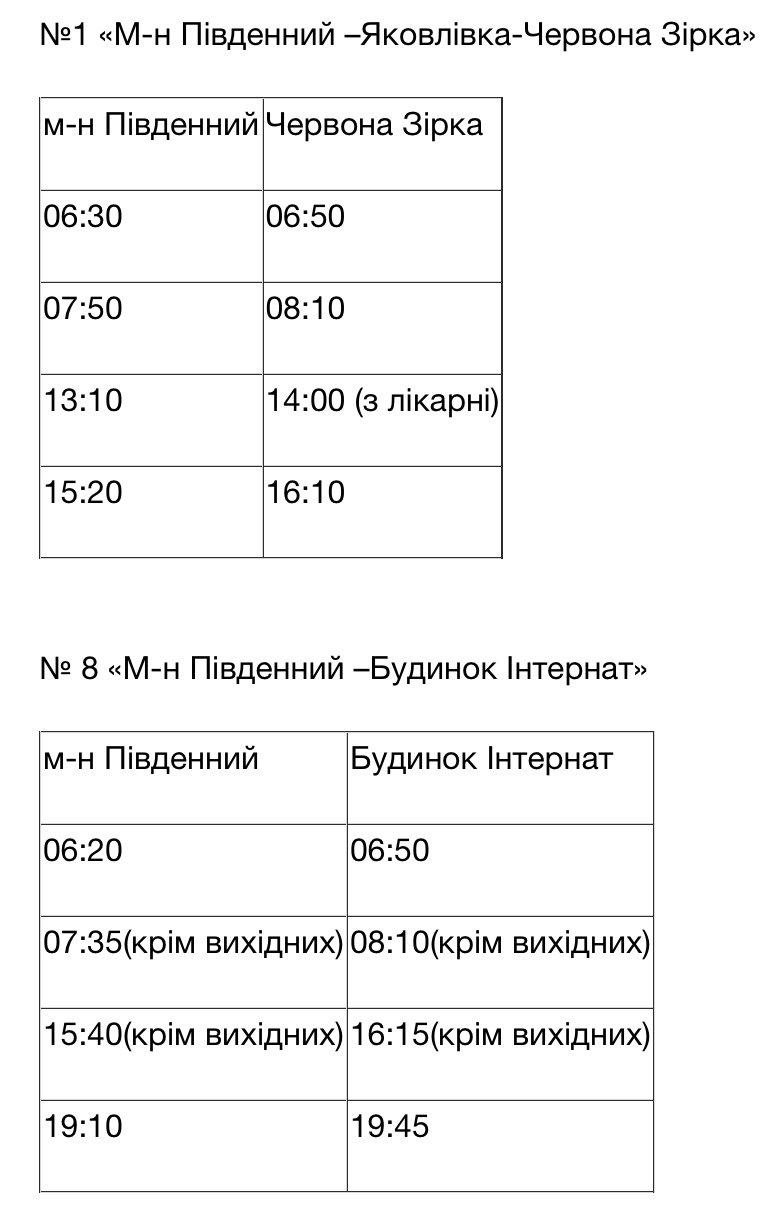 Розклад руху автобусів в Дружківці для тих, хто має перепустку, фото-1