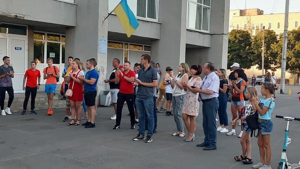 Дружківка: На площі Молодіжній вчора офіційно відкрили мультиспортивний простір для тренувань на свіжому повітрі, фото-2