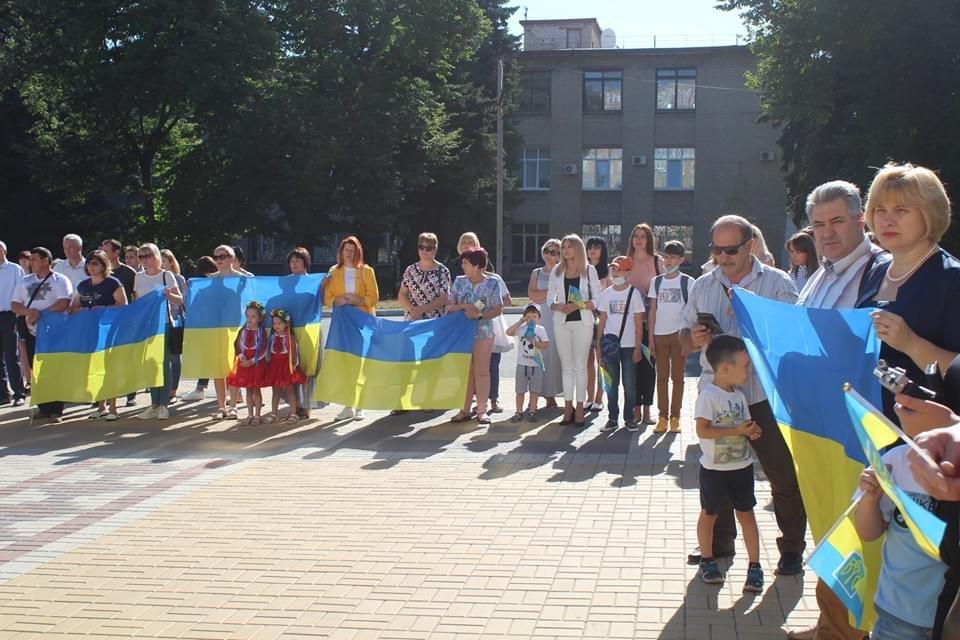 В Дружківці сьогодні відбувся урочистий захід на честь Дня державного прапору України, фото-5