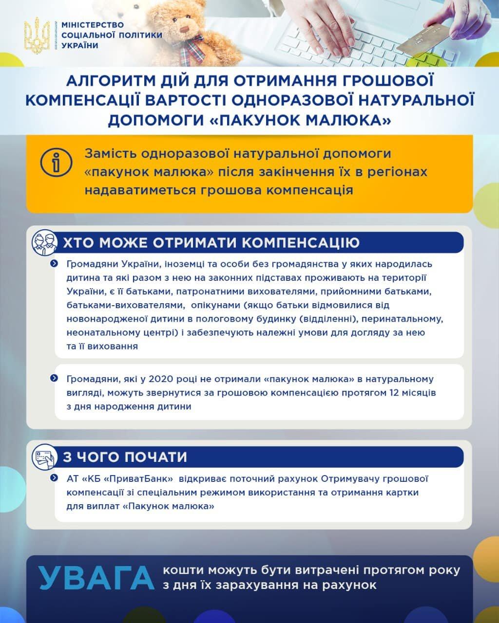 З 1 вересня стартує пілотний проект монетизації вартості «пакунків малюка» у 2020 - 2021 роках: як батькам отримати кошти, фото-3
