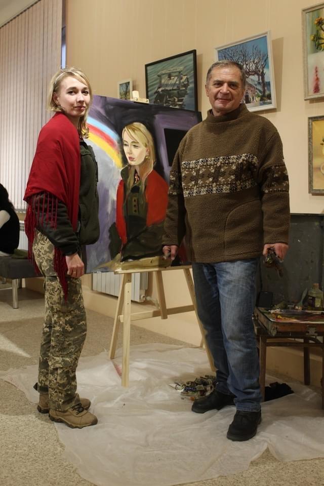 У Дружківці військовослужбовці позували для художників Донеччини (ФОТО), фото-2